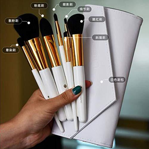 Jieqiong Maquillage Pinceau Ensemble 10 brosses de Maquillage débutants Outils de beauté Cheveux Doux,Classic