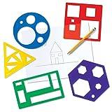 Learning Resources- Set di Modelli di Forme di Base, Colore, LER5440