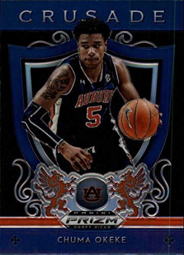 2019-20 Panini Prizm Draft Picks Basketball Crusade Prizm Blue Refractor #37 Chuma Okeke Auburn Tigers RC Rookie Offiicial NCAA Collegiate Trading Card BLASTER EXCLUSIVE (Scan streaks are NOT on the card)