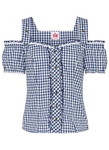 Spieth & Wensky - Karierte Damen Trachten Bluse, Görlitz (301840-0948), Größe:44, Farbe:Dunkelblau (2349)