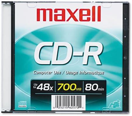 Maxell Seattle Finally resale start Mall - CD-R Disc 700MB 80min Silver Slim Jewel 48x w Case