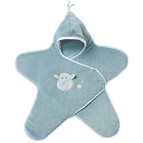 Fehn 065237 Einschlagdecke Drache / Kuschelige Babydecke mit Klettverschluss für Kinderwagen, Babytrage, Autositz, Babybett, für Babys von 0-6 Monaten