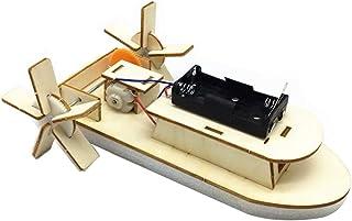 Kapmore Kit De Construcción De Madera Creativo Barco Eléctrico Kit De Experimento Educativo De Bricolaje Kit De Montaje Para Niño
