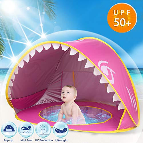 Camlinbo Baby Beach Tent, Easy Fold & Pop up Portable UV...
