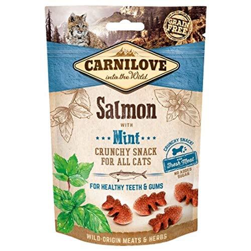 Carnilove Crunchy Snack Salmon & Mint Premios para Gato 50G - Paquete de 30 x 1.67 gr - Total: 50 gr