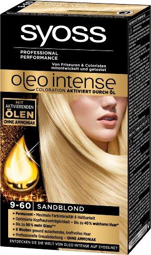Syoss Oleo Intense Coloration 9-60 Sandblond, 3er Pack (3 x 115 ml)