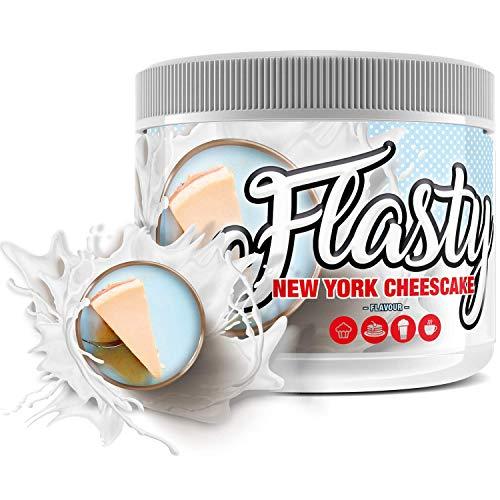 sinob Flasty Geschmackspulver (New York Cheesecake) 1 x 250g Kalorienarmes Flavour Pulver 'Nur ca. 7 kcal pro Portion' Bringt Leben in deinen Quark, Joghurt und mehr.