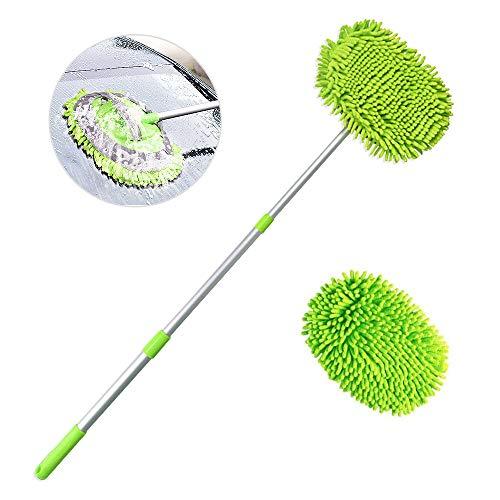 """2 in 1 Chenille Mikrofaser Autowaschbürsten Kits Mopphandschuh mit 45\"""" langem Griff, Auto-Reinigungsset für Bürstenstaubtuch, kratzfreies Reinigungswerkzeug zum Waschen von LKW, Auto, Wohnmobil"""