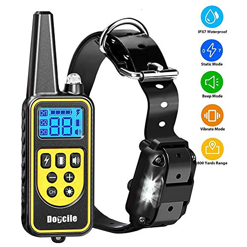 YISENCE Dog Training Collar, Dog Shock Collar with Remote 2500FT Shock Collar for Dogs IPX7...