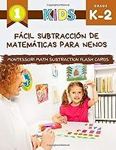 Fácil subtracción de matemáticas para nenos Montessori Math Subtraction Flash Cards: Gran libro de libro de matemáticas con imaxes. Os meus primeiros xogos fixéronnos do xardín de infancia, 1º e 2º de primaria