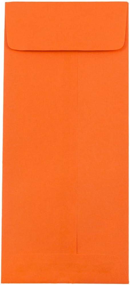JAM PAPER #11 5 popular Policy Colored Envelopes - 4 Orange 8 Finally popular brand 2 x 3 10 1