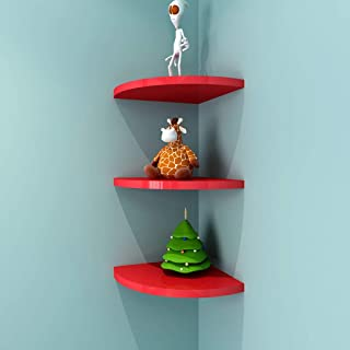 LBYMYB Racks Fan-shaped Red Corner Frame Simple Wall Triangle Bracket Wall-mounted Partitions 1 5cm Shelf