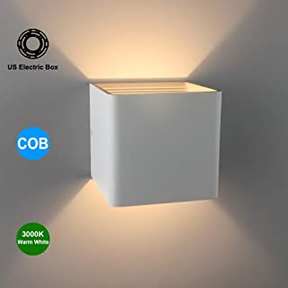 9aadaa91bc65 Aipsun Square Matte 10W LED COB Modern Up and Down Wall Light Lamp for  Indoor Wall