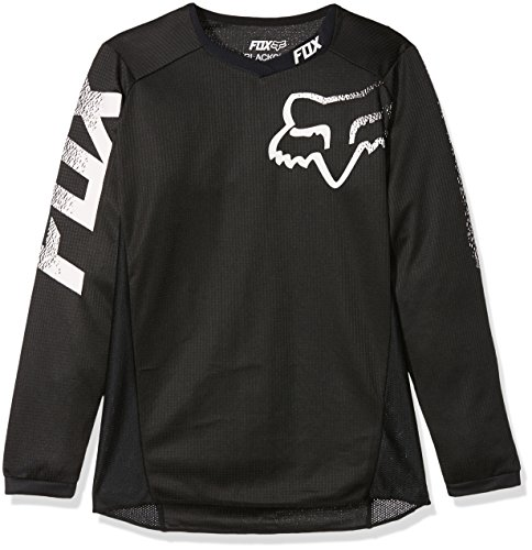 Fox Racing YTH Blackout Jersey, Black, Large/Youth