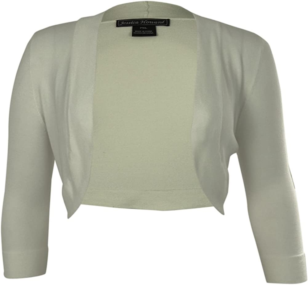 Jessica Howard Ivory Open-Front Sweater JH2M7819