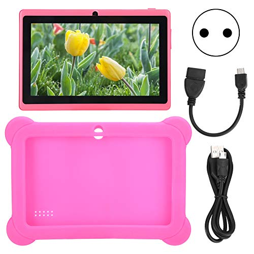 fasient1 Kids Tablets PC 7in HD Kids Edition Tablet for Kids Learning Tablet Quad Core with WiFi 1GB RAM 8GB ROM with Kids-Proof Silicon Case for Kids Birthday Gift,for Android 4.4(UK)