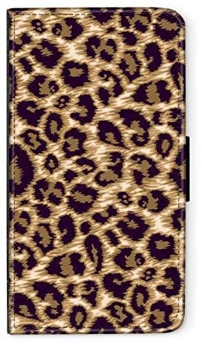 Custodia a portafoglio con motivo di animali e pelle di pecora compatibile con iPhone 5 5S Puma
