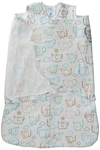 HALO Sleepsack Swaddle, 100% Cotton, Elephant, Newborn