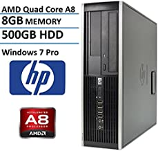HP 6305 Small Form Factor Business Desktop Computer (AMD A8 Duad-Core up to 3.7GHz Processor, 8G DDR3 Memory, 500GB HDD, DVD, VGA, Gigabit Ethernet, Windows 10 Professional) (Renewed)