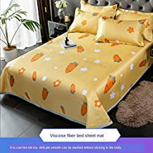 Summer Cool Sleeping Mat and Breathable Ice Silk Cold Sheets Pillowcase Mattress Can Be Washed and Folded,005,1.8m