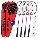 Badminton Rackets 4 Pack Set