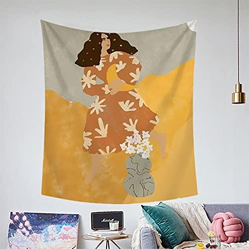 NHhuai Tapiz Tela Decoración del Hogar Estera de Yoga Toalla de Playa Colorida Impresa del Tapiz de la ilustración
