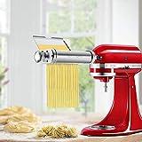 LSY Máquina para Hacer Pasta, Juego Batidoras Pie 3 En 1 Accesorios Máquina para Hacer Pasta Acero Inoxidable Incluidos Rodillo Hoja De Pasta Cortador Espagueti Cortador Fettuccine