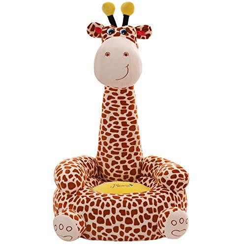 DQYFZQ para niños Animal Lindo sofá Perezoso Jirafa Asiento de Peluche Cómodo Animal Decoración para la habitación de los niños,A,80cm