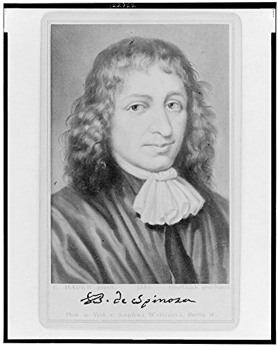 1884 Photo Baruch Spinoza / E. Hader pinxit ; phot. u. verl. v. Sophus Williams, Berlin W. Benedictus de Spinoza, head-and-shoulders portrait, facing slightly right.