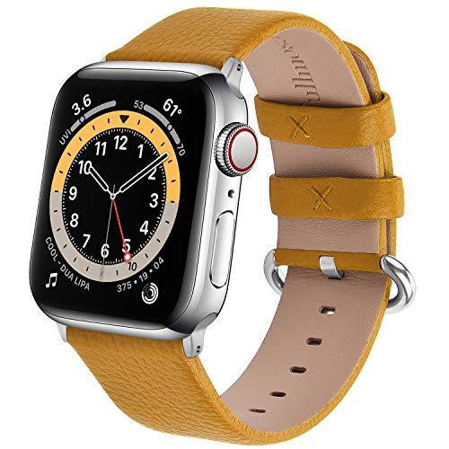 Fullmosa Cinturino Orologio per Apple Watch SE 6/5/4/3/2/1, Cinturino Compatibile con Iwatch 38/40/42/44mm, Cinturino Orologio in Pelle per Uomo e Donna, Cinturino Bracciale per Apple Watch 6/SE