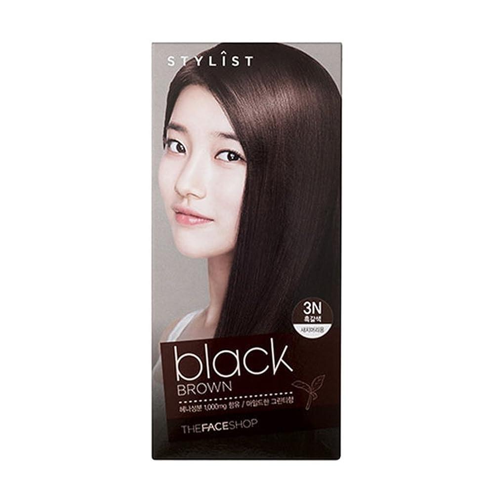 ボーナスアヒルフラッシュのように素早く[ザフェイスショップ The Face Shop] Stylist Silky Hair Dye Color Cream Black Brown