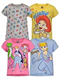 Disney Toy Story Bo Peep Jessie Toddler Girls 4 Pack Short Sleeve T-Shirts 5T