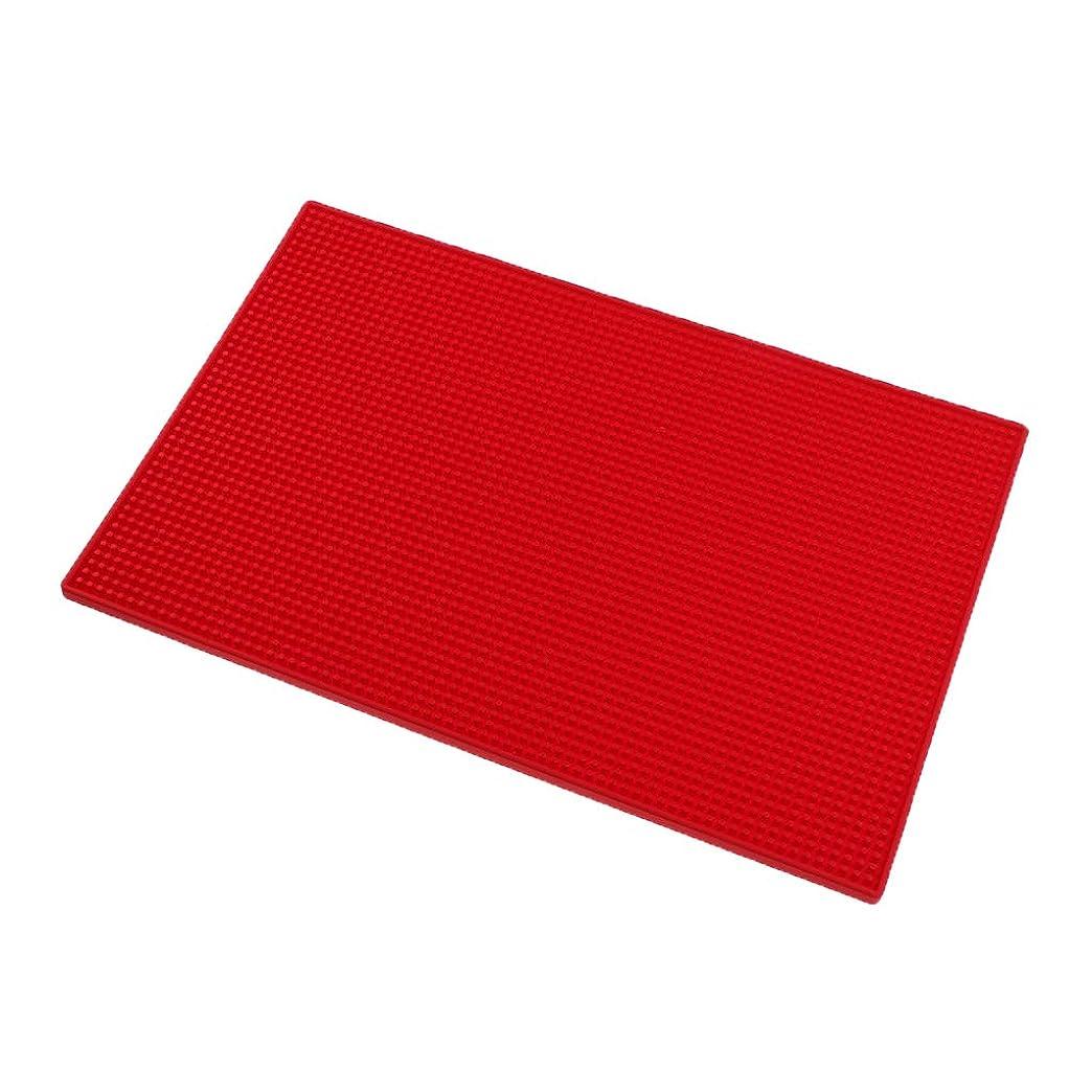 石灰岩充電手P Prettyia クッション シリコンマット ネイルアート ハンドレスト マニキュアツール 全3色 - 赤
