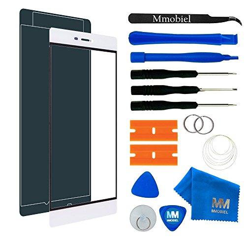 MMOBIEL Front Glas Reparatur Set kompatibel mit Huawei P8 Series (Weiss) Display Touchscreen mit Werkzeug-Set