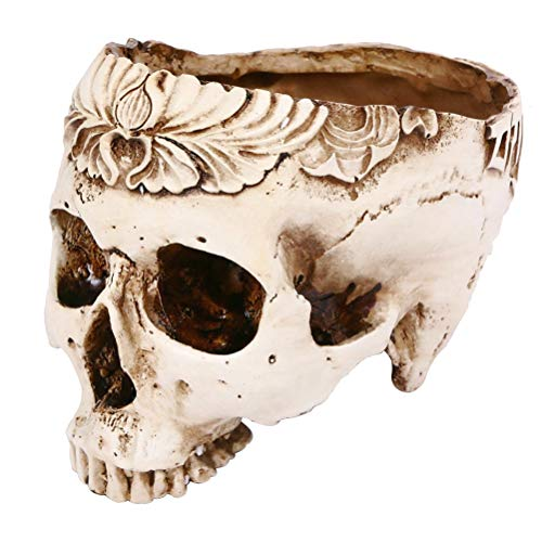 Aschenbecher Resin Skull Einzigartige gruselige Raucherzimmer Zubehör Halloween Dekore Blumentopf Bar Dekor Asche Lagerung