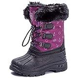 UBFEN Botas de Nieve Botas de Invierno para Niños Invierno Calentar Forrada de Esqui Impermeables Boots 38 EU B Morado