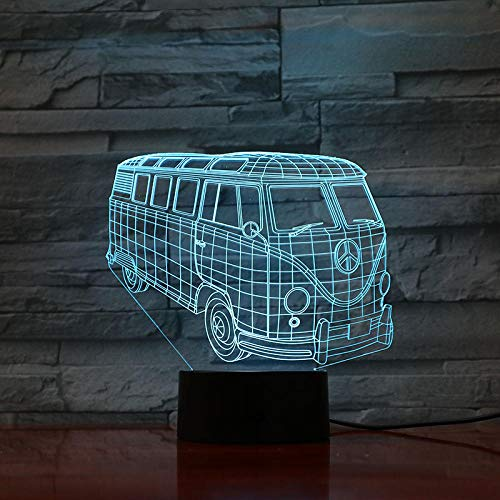 Illusion Lamp Mood Night Light,Black Base/with Remote Control/16 Color Gradual Changing Touch 3D Night Light The Perfect Gift for Kids Birthday and Holiday and Halloween Christmas,Creative Decoration