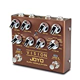 JOYO Vision R-09 R Series Dual Channel Modulation Multi Effects Pedal Supports Stereo Input and Output Channel Features 9 Effects for Electric Guitar (R-09)