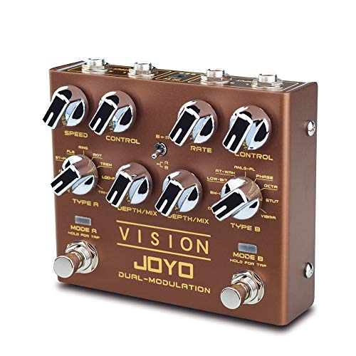 JOYO Vision R-09 R Series Dual Channel Modulation Multi Effects Pedal Supports Stereo Input and Output Features 9 Effects for Electric Guitar (R-09)