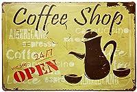 Coffee Shop 金属板ブリキ看板警告サイン注意サイン表示パネル情報サイン金属安全サイン