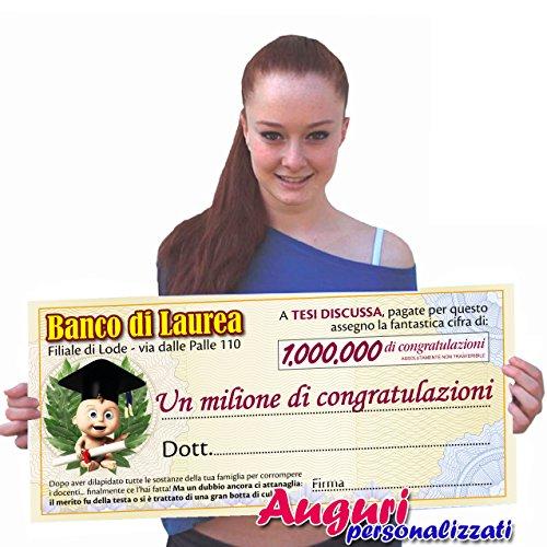 Bombo Biglietto assegno Laurea