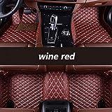 Youthus Alfombrillas Coche para Lexus Todos los Modelos Es Is-C Is350 LS RX Nx GS CT Gx LX RC Rx300 Lx570 Rx350 Lx470 Estilo automático, Rojo Vino