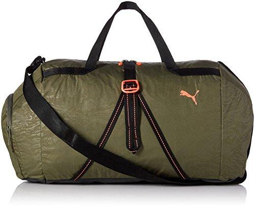 PUMA Uni Fit AT Sports Duffle Tasche, grün (olive night-puma black-Nrgy peach), 56 x 30 x 1 cm