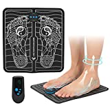 EMS Electric Foot Stimulator Massager, Folding Portable Electric Massage Mat, Full Automatic Massage Foot Circulation Massager Body Machine for Men Women 6 Modes 15 Intensity Levels