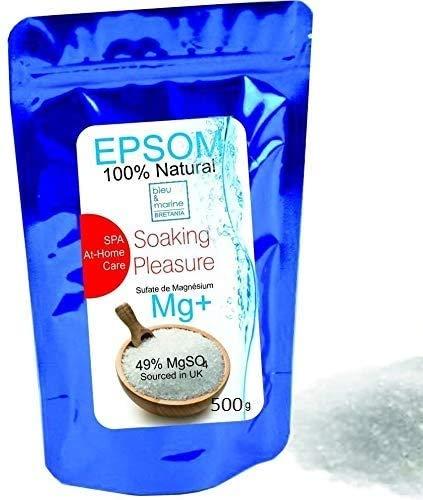 Sel d'Epsom Salt 500g Sel de Bain Bain de Pied Sel alimentaire Sel jacuzzi Sel Jardinage engrais Bath Salt epsom Sulfate de Magnesium