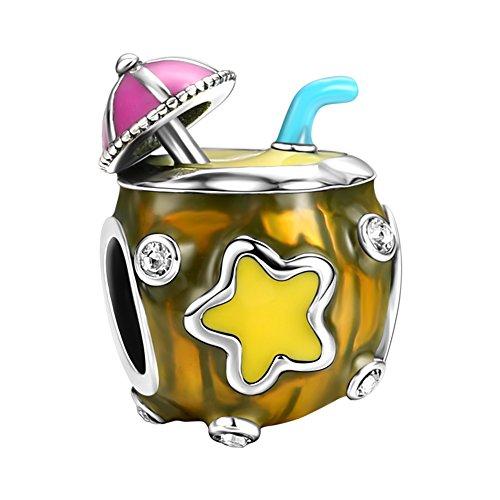 SOUFEEL Jus de Coco Voyage Perle Charm Bleu en Argent Sterling 925 Compatible Européen Bracelet pour Charms Colliers Bracelets