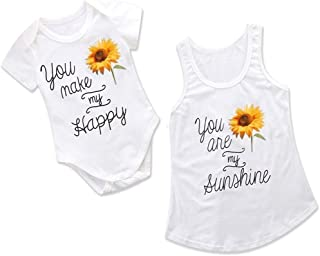 Kehen- Mommy and Me Matching Clothes Off Shoudler Long Sleeve Striped Top of Women and Girl