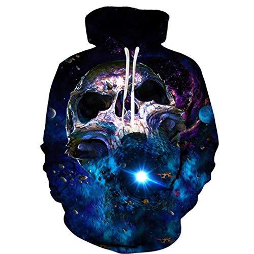 3D Männer Hoodies Ghost Cartoon Graffiti Mit Kapuze Sweatshirts Hip Hop Rock Cool Outwear Color 5 4XL