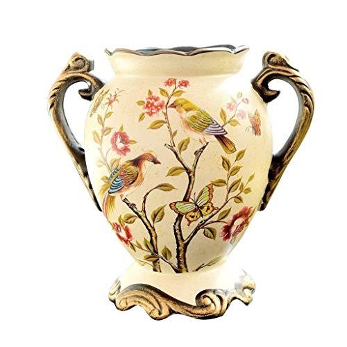 WKHQQ Vasi Tradizionali Vaso Bottiglia di Porcellana Vaso Vintage Vaso in Ceramica Arte Vaso Vaso Decorativo Vaso di Fiori Finti