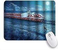 NIESIKKLAマウスパッド クリスマストレイン ゲーミング オフィス最適 高級感 おしゃれ 防水 耐久性が良い 滑り止めゴム底 ゲーミングなど適用 用ノートブックコンピュータマウスマット